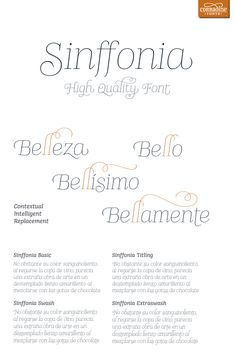 Sinffonia - decorative font family by Corradine Fonts