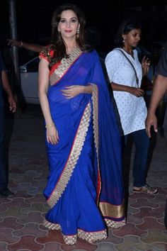 #Blue Colored Bollywood Style #Saree