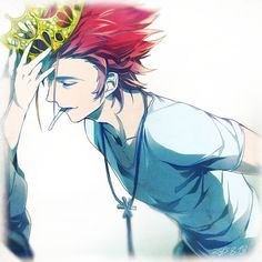 Suo Mikoto, the Red King - K Project, anime by さくらい on pixivi