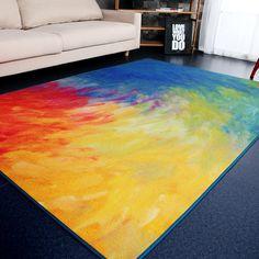 Modern Abstract Art Grote Carpet Slaapbank Side karpetten Woonkamer Slaapkamer Parlor Rainbow vloermatten Woondecoratie Carpet