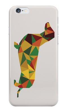 """Dachshund - geometric Wiener!"" iPhone Cases & Skins by opul 