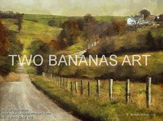#051 ROAD WINDING THROUGH AMISH COUNTRY Limited edition of ten 18x24 prints. $185.00 Painting by Two Bananas Art artist Richard Neuman. Inspired by a photo he took in Holmes County, Ohio. Each giclee print is digitally signed, dated, numbered, with a certificate of authenticity. Your gallery wrapped, stretched canvas print is ready to hang. SHIPPED FREE! #art #architecture #colorful #semi #abstract #landscape #amish #print