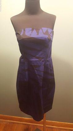 Express Design Studio Royal Blue Black Zebra Print Strapless Cotton Dress 4 Euc #ExpressDesignStudio #Strapless #EveningOccasion #daystarfashions $9.95