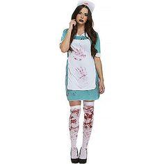 bloody nurse halloween costume blood apron fancy dress womens size uk 10 - Ebaycom Halloween Costumes