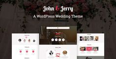 John & Jerry - A WordPress Wedding Theme - Wedding WordPress Download here: https://themeforest.net/item/john-jerry-a-wordpress-wedding-theme/19852079?ref=classicdesignp
