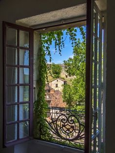 Ventana Windows, Looking Out The Window, France Photos, Window View, Open Window, Through The Window, Northern Italy, Interior Exterior, Belle Photo