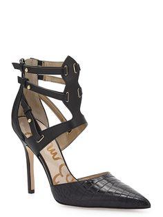 Sam Edelman   Durham Croc Stiletto Court Shoes   Cure UK