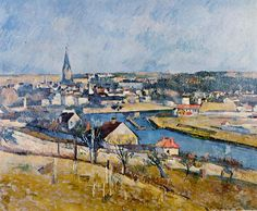 Paul Cezanne, Ile de France Landscape, 1880, oil on canvas