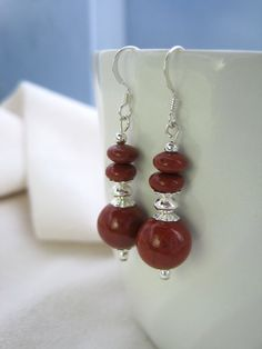 Handmade Earrings with Sterling Silver and by CraftySchmantzy