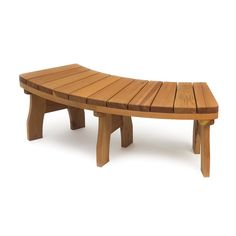 This is what I've been looking for to surround the firepit. I think I can build these. A & B Accessories SUNBEN Curved Bench - Outdoor Living Showroom