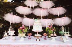 Varal de saia de tule para festa das Princesas - Dicas pra Mamãe