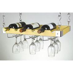 creative wine glass shelf
