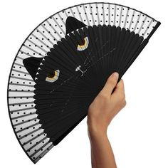 Silk and Bambou Japanese Cat Handheld Folding Fan Crazy Cat Lady, Crazy Cats, I Love Cats, Cool Cats, Japanese Cat, Vintage Japanese, Cat Accessories, All About Cats, Cat Crafts
