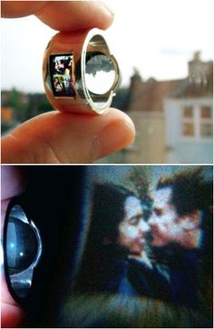 unique ring with sun projector! This would be so awesome with a picture of the kids in it too!!