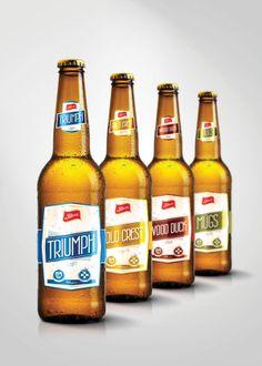 Storz Beer Label (Rejected Concepts) by Bruce Hartford, via Behance