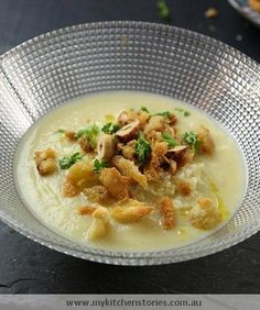 Cauliflower & Cheddar Soup-1/2 an onion diced-1 lg leek,sliced-2 lbs ...