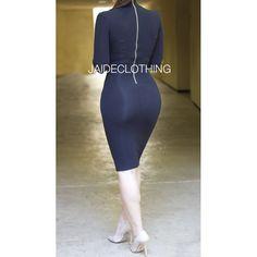 BLACK Gold Zipper Turtleneck Dress - Jaide Clothing