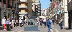 Corso Mazzini in Cosenza, Italy Shopping, shopping and cafe!!