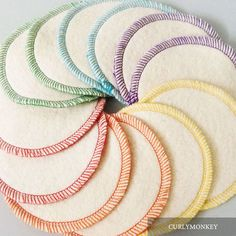 Reusable Cotton Rounds - Organic Makeup Rounds - Eco-friendly Facial Pads - Hemp Organic Cotton Fleece. Ditch your disposable cotton rounds for our