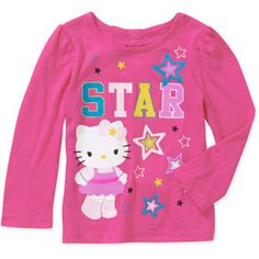 Hello Kitty Baby Girls' Star Bow Back Graphic Tee