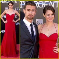 Shailene Woodley Goes Red Hot for 'Divergent' Madrid Premiere