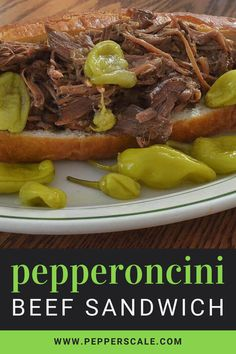 Sometimes the simplest ingredient list can turn out the most delicious results. That's the beauty of pepperoncini beef. It's pretty much a chuck roast, a jar of pepperoncini peppers, and some spices, but the flavor impact just seems like so much more. #pepperonicini #beef #slowcooker Carrot Banana Cake, Homemade Carrot Cake, Healthy Carrot Cakes, Slow Cooker Recipes, Meat Recipes, Mexican Food Recipes, Crockpot Recipes, Fun Recipes, Dinner Recipes