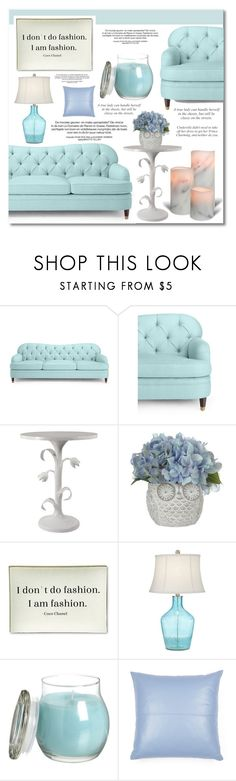 """""""Blue Living Room"""" by iamtaylorswift ❤ liked on Polyvore featuring interior, interiors, interior design, home, home decor, interior decorating, Kate Spade, Twigs and Moss, Pacific Coast and living room"""