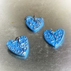 OOAK Hand Made Heart Pendants - #5873   Stall & Craft Collective