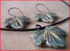 Ceramic leaf jewelry