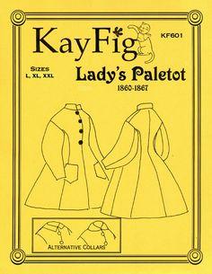 KayFig Patterns 601, Paletot c. 1860-1867, L XXl XXL