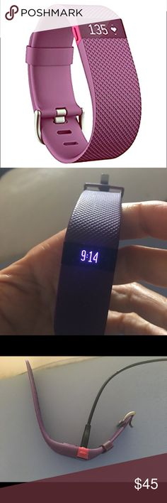 Fitbit charge HR in perfect condition Like new. Includes a free yellow strap fitbit Accessories Watches