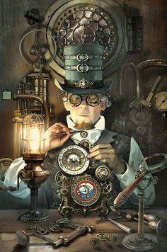 Safari Steampunk Anyone? Steampunk is a rapidly growing subculture of science fiction and fashion. Gadgets Steampunk, Viktorianischer Steampunk, Steampunk Kunst, Steampunk Artwork, Steampunk Cosplay, Steampunk Design, Steampunk Clothing, Steampunk Fashion, Steampunk Makeup