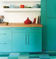 Aqua cabinets
