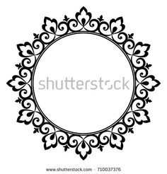 Decorative line art frames for design template. Elegant element for design in Eastern style, place for text. Lace vector illustration for invitations and greeting cards Border Design, Circle Design, Line Art, Cadre Design, Invitation Card Design, Invitations, Decorative Lines, Decorative Borders, Art Encadrée