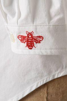 kensington shirt. bee detail.
