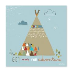 Tableau Teepee by Paper & Cloth x 20 cm) : Lilipinso Poster Online, Indian Prints, Creative Illustration, Kids Prints, Kids Decor, Icon Design, Art For Kids, Print Patterns, Kids Room