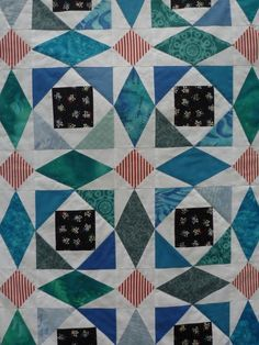 einfach bunt...: Jonathans Storm-at-Sea for blogger's quilt festival fall 2012