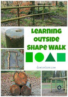 Go on a Shape Walk to see shapes all around us - damsonlane.com
