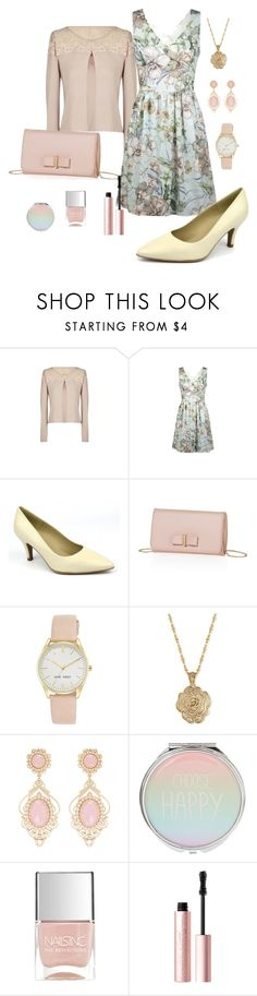 """Beige et rose poudré"" by delphine-delphe on Polyvore featuring mode, Brenda Zaro, Nine West, 2028, Nails Inc. et Too Faced Cosmetics"