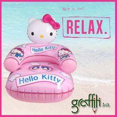 Χαλάρωσε παρέα με τη Hello Kitty!  #graffitisa #graffiti #hellokitty #beach #summer #sea #have_fun