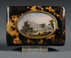 Souvenir Tortoiseshell Card Case from the Crystal Palace Exhibition, England, c. 1851