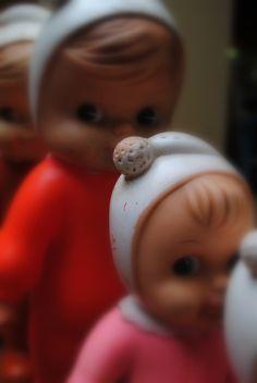 Boneca de Borracha que apitava qdo apertada