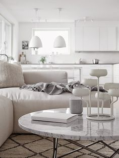 Cozy scandinavian apartment   Design by Moodhouse, styling by Marie Ramse photos by Kristofer Johnsson via Hitta Hem.