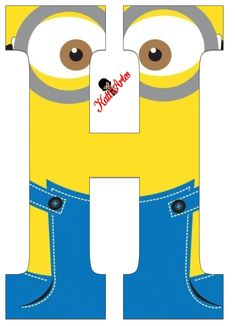 Typography - Minion Alphabet - Letter H Minion Birthday Banner, Minion Theme, Minion Party, My Minion, Birthday Themes For Boys, Kids Birthday Cards, Birthday Greeting Cards, Birthday Greetings, Boy Birthday