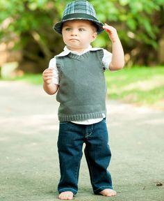 #RuffleButts RuggedButts.com - Gray Sweater Knit Vest