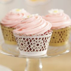 These creative cupcake wraps are too pretty! #cupcakes #easter #baking https://www.candycakeweddings.com/products/cupcake-wraps-floral-art-deco?utm_campaign=Pinterest%20Buy%20Button&utm_medium=Social&utm_source=Pinterest&utm_content=pinterest-buy-button-1afbe8ec4-40b3-4251-83e3-e67cdac3ebd3