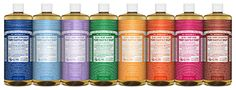 Dilutions Cheat Sheet for Dr. Bronner's Pure-Castile Soap