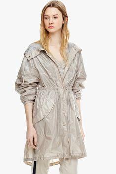 Hooded Nylon Parka - Coats & Trench Coats | Adolfo Dominguez shop online