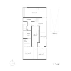 small house in Kashiba by Horibe Naoko Architect, ground floor plan F01