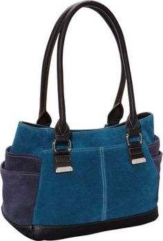 Tignanello Sueded Statement Shopper Peacock/Midnight - via eBags.com!